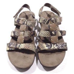 2758db48237d1 Vionic Shoes   Amber Natural Snake Orthaheel Ortha Sandals   Poshmark